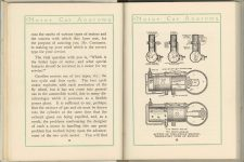 1912 MOTOR CAR ANATOMY by Franklin Pierce 5″×6″ pages 14 & 15