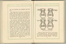 1912 MOTOR CAR ANATOMY by Franklin Pierce 5″×6″ pages 16 & 17
