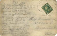 1913 6 27 date PRE 1912 racer MERCER RPPC back
