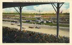 1920 ca Auto Racing New York State Fair Grounds Syracuse NY postcard front