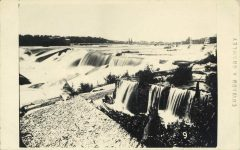 9 – St. Anthony Falls, Minneapolis, 1869 Photographs of Early St. Paul From Edward A Bromley's Collection Published ca. 1910 5'5″x3.5″ Postcard
