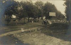 1910 Elgin Auto Races Buck Simplex Speeding RPPC front