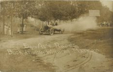 1910 Elgin Auto Races Buck driving Winning Marmon Kane County Trophy RPPC Front 2 1
