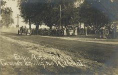 1910 Elgin Auto Races Greiner driving his National RPPC front
