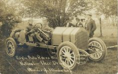 1911 Elgin Auto Races National Don Herr Driver Winner of Illinois Cup Webb Photos LeThin RPPC front