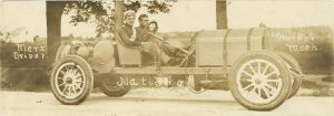 1911 Elgin Auto Races National Merz Driver Walker Mech Long RPPC front