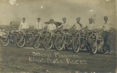 1911 Elgin Auto Races Official Flagmen RPPC front 1