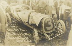 1911 Elgin Auto Races The Wreck in Which Buck and Jacobs were killed Webb Lethin Photos RPPC front