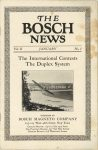 1911 THE BOSCH NEWS January 1911 Vol 2 No 1 6″×9″ page 1