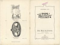 1905 ADVERTISING CUTS OF POPE Waverley ELECTRICS Front & Back cover