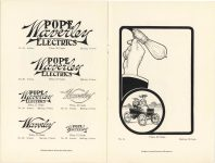 1905 ADVERTISING CUTS OF POPE Waverley ELECTRICS page 12 & Inside back cover