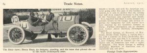 1911 8 STUTZ racer Car 10 Trade Notes August 1911