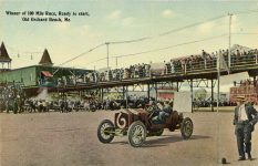 1911 Racing Old Orchard Beach ME winner 100 mile postcard Front TN
