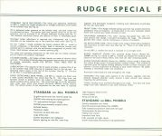 1939 RUDGE Quality Motor Cycles RUDGE SPECIAL FEATURES FOR 1939 Original 9″x8″ page 1a