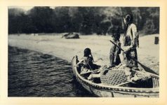 8 LOADING UP Reeds Indian Pictures postcard Front