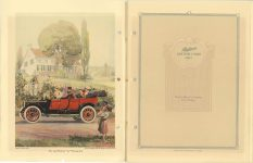 "1912 Packard MOTOR CARS The 1912 Packard ""30"" Touring Car Packard Motor Car Company, Detroit, Michigan 8″×11″ Inside Front cover and page 1"