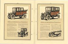 "1912 Packard MOTOR CARS The 1912 Packard ""18"" Imperial Landaulet. Coupe, Imperial Limousine and Closed-Coupled pictured. Bodies and Appointments – 1912 – Packard Cars 8″×11″ page 28 & Inside back cover"