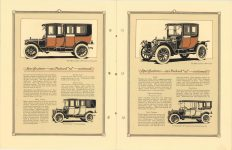 "1912 Packard MOTOR CARS The 1912 Packard ""30"" Imperial Limousine, Landaulet, Coupe and Touring Car pictured. Specifications – 1912 – Packard ""30"" Continued 8″×11″ pages 10 & 11"