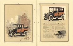 "1912 Packard MOTOR CARS The 1912 Packard ""18"" Landaulet and the 1912 Packard ""18"" Limousine pictured. Bodies and Appointments – 1912 – Packard Cars 8″×11″ pages 26 & 27"