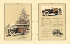 "1912 Packard MOTOR CARS The 1912 Packard ""30"" Phaeton with Standard Top and with Packard Storm-tilt Windshield. Specifications – 1912 – Packard ""30"" 8″×11″ pages 4 & 5"