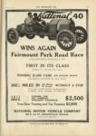 1910 10 12 NATIONAL 40 WINS AGAIN Fairmount Park Road Race THE HORSELESS AGE 9×12 page 15