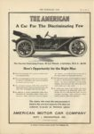 1910 10 5 THE AMERICAN A Car For The Discriminating Few Indianapolis THE HORSELESS AGE 9″x12″ page 6