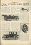 1910 9 7 1911 AMERICAN New Vehicles and Parts American Line Indianapolis THE HORSELESS AGE 9″x12″ page 329