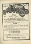 1910 9 7 NATIONAL Again National 40 Wins Two Hundred Mile Open Race THE HORSELESS AGE page 18
