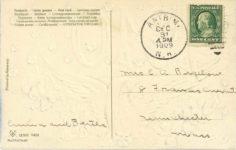 1910 A Prosperous New Year postcard back