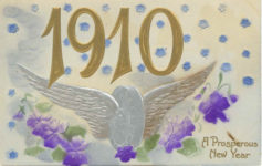 1910 A Prosperous New Year postcard front