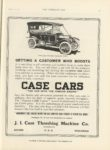 1911 2 22 CASE CARS THE CAR WITH THE FAMOUS ENGINE THE HORSELESS AGE 9″x12″ page 27