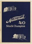 1912 National 40 Stock Champion NATIONAL MOTOR VEHICLE COMPANY Indianapolis, IND 7.75″×10.5″ Front cover