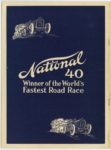 1912 National 40 Stock Champion NATIONAL MOTOR VEHICLE COMPANY Indianapolis, IND 7.75″×10.5″ Back cover