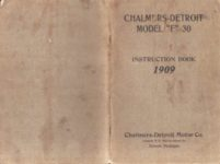 1909 CHALMERS DETROIT MODEL F 30 INSTRUCTION BOOK Front Back covers