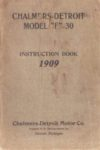 1909 CHALMERS DETROIT MODEL F 30 INSTRUCTION BOOK thumb
