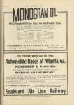 1910 10 5 Automobile Races at Atlanta Ga November 3 4 and 5th SEABOARD AIR LINE RAILWAY THE HORSELESS AGE 9×12 page 25 1