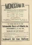 1910 10 5 Automobile Races at Atlanta Ga November 3 4 and 5th SEABOARD AIR LINE RAILWAY THE HORSELESS AGE 9×12 page 25