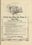 1910 10 5 F A L Car Wins Six Firsts in One Day THE HORSELESS AGE 9×12 page 21 1
