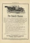 1910 10 5 HAYNES THE SUPER HAYNES HAYNES AUTOMOBILE COMPANY, Kokomo Indiana Kokomo IND THE HORSELESS AGE October 5, 1910 Vol. 26 No. 14 9×12 page 34