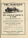 1910 10 5 MARMON THE MARMON Wins Second in the Vanderbilt by 25 Seconds Nordyke & Marmon Company Indianapolis, Indiana THE HORSELESS AGE October 5, 1910 9×12 page 17