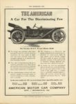 1910 11 30 AMERICAN THE AMERICAN A Car For The Discriminating Few THE HORSELESS AGE 9×12 page 3