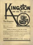 1910 11 30 KINGSTON The Kingston BUILT BY EXPERIENCE Byrne, Kingston & Co. Kokomo, Indiana THE HORSELESS AGE November 30, 1910 9×12 Back cover