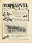 1910 11 30 MARVEL THE MARVEL CARBURETOR The Name Defines It THE HORSELESS AGE November 30, 1910 9×12 page 29