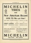 1910 11 30 MICHELIN TIRES WIN New American Record OVER 73 Miles per Hour SANTA MONICA THE HORSELESS AGE 9×12 page 12