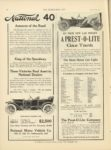 1910 11 30 PREST O LITE ON YOUR NEW CAR SPECIFY A PREST O LITE Gas Tank The Prest O Lite Co, Indianapolis, Indiana THE HORSELESS AGE November 30, 1910 Vol. 26 No. 22 9×12 page 26