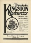 1910 11 9 KINGSTON The 1 2 3 4 5 KINGSTON Carburetor Famous For Its Simplicity Byrne, Kingston & Co. Kokomo, Indiana THE HORSELESS AGE November 9,1910 9×12 page 2