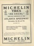 1910 11 9 MICHELIN TIRES AS USUAL ATLANTA SPEEDWAY THE HORSELESS AGE 9×12 page 16 1
