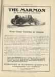 1910 11 9 MARMON THE MARMON Wins Great Victories at Atlanta Nordyke & Marmon Company Indianapolis, Indiana THE HORSELESS AGE November 9, 1910 9×12 page 21
