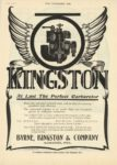 1910 6 22 KINGSTON At Last the Perfect Carburetor Byrne, Kingston & Co. Kokomo, Indiana THE HORSELESS AGE June 22, 1910 9×12 page 1