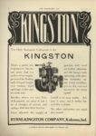 1910 9 7 KINGSTON The Only Automatic Carburetor is the KINGSTON Byrne, Kingston & Co. Kokomo, Indiana THE HORSELESS AGE September 7, 1910 Vol. 26 No. 10 9×12 page 8